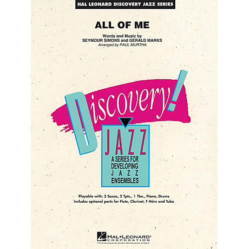 Hal Leonard All of Me Jazz Band Level 1.5 Arranged by Paul Murtha