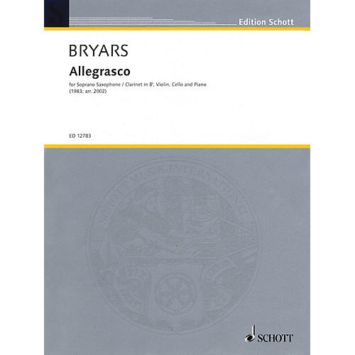 Schott Allegrasco (Score and Parts) Woodwind Ensemble Series by Gavin Bryars