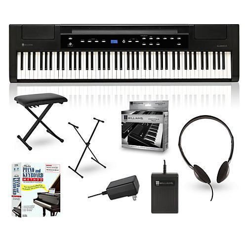 williams allegro 2 88 key hammer action digital piano packages guitar center. Black Bedroom Furniture Sets. Home Design Ideas