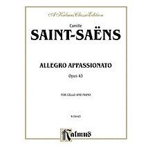 Alfred Allegro Appassionato Op. 43 for Cello By Camille Saint-Sa«ns Book
