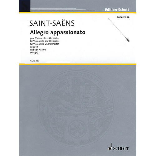 Schott Allegro appassionato (Cello and Orchestra Full Score) String Series Softcover by Camille Saint-Saëns