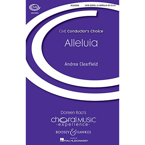 Boosey and Hawkes Alleluia (CME Conductor's Choice) SATB a cappella composed by Andrea Clearfield