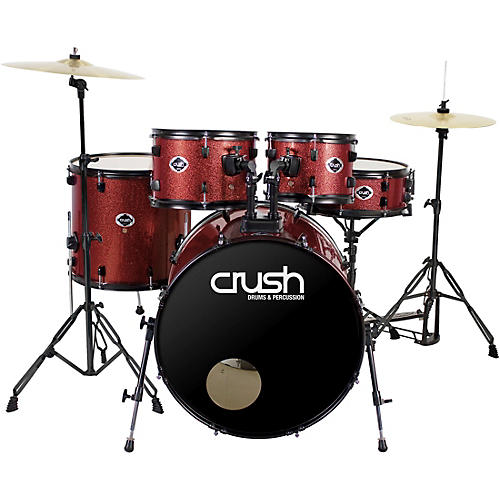 crush drums percussion alpha complete 5 piece drum set with 22 bass drum guitar center. Black Bedroom Furniture Sets. Home Design Ideas