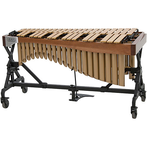 Adams Alpha Series 3.0 Octave Vibraphone, Gold Bars Motor Traveler Frame Walnut Rails