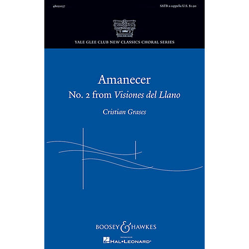 Boosey and Hawkes Amanecer SATB a cappella composed by Cristian Grases
