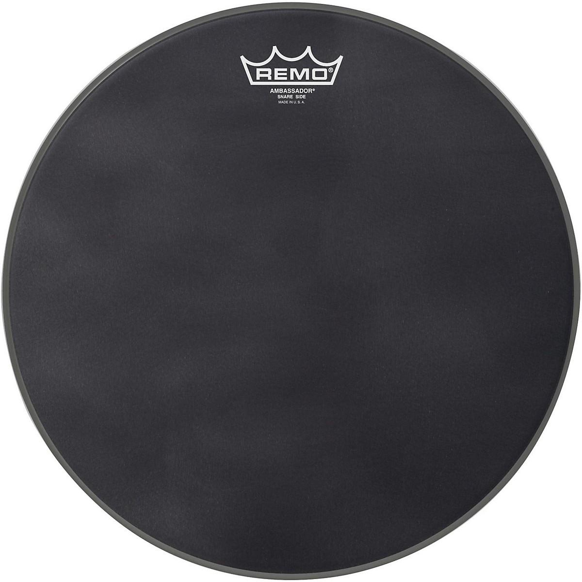 Remo Ambassador Black Suede Snare Side Drum Head