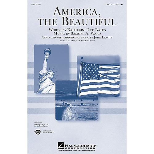 Hal Leonard America, the Beautiful SATB arranged by John Leavitt