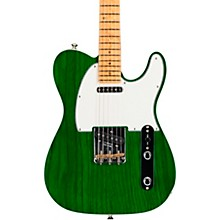 American Custom Telecaster Maple Fingerboard Electric Guitar Transparent Emerald Green