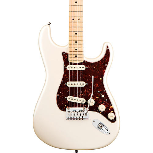 fender american deluxe stratocaster electric guitar olympic pearl maple neck guitar center. Black Bedroom Furniture Sets. Home Design Ideas