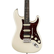 American Elite Stratocaster HSS Shawbucker Ebony Fingerboard Electric Guitar Olympic Pearl