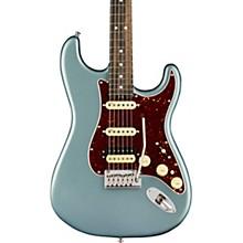 American Elite Stratocaster HSS Shawbucker Ebony Fingerboard Electric Guitar Satin Ice Blue Metallic