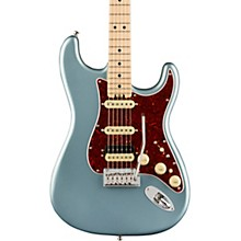 American Elite Stratocaster HSS Shawbucker Maple Fingerboard Electric Guitar Satin Ice Blue Metallic
