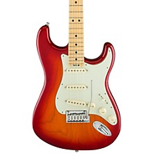 American Elite Stratocaster Maple Fingerboard Electric Guitar Aged Cherry Burst