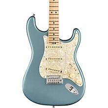 American Elite Stratocaster Maple Fingerboard Electric Guitar Satin Ice Blue Metallic
