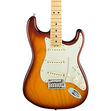 American Elite Stratocaster Maple Fingerboard Electric Guitar Tobacco Sunburst