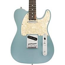American Elite Telecaster Ebony Fingerboard Electric Guitar Satin Ice Blue Metallic