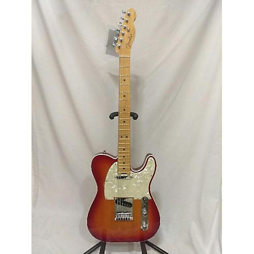 used fender american elite telecaster solid body electric guitar cherry sunburst guitar center. Black Bedroom Furniture Sets. Home Design Ideas