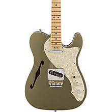 American Elite Telecaster Thinline Maple Fingerboard Electric Guitar Champagne