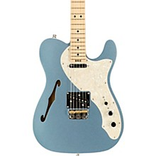 American Elite Telecaster Thinline Maple Fingerboard Electric Guitar Mystic Blue