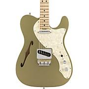 American Elite Telecaster Thinline Maple Fingerboard Electric Guitar Satin Jade Pearl Metallic