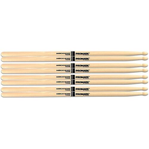 Promark American Hickory Wood Tip Drum Sticks - Buy 3,  Pairs, Get 1 Pair Free