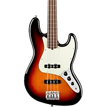 American Professional Fretless Jazz Bass Rosewood Fingerboard 3-Color Sunburst