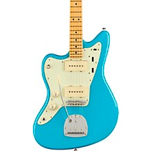 American Professional II Jazzmaster Maple Fingerboard Left-Handed Electric Guitar Miami Blue