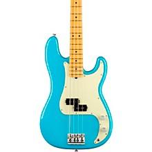American Professional II Precision Bass Maple Fingerboard Miami Blue