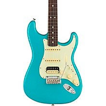 American Professional II Stratocaster HSS Rosewood Fingerboard Electric Guitar Miami Blue