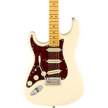 American Professional II Stratocaster Maple Fingerboard Left-Handed Electric Guitar Olympic White