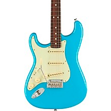 American Professional II Stratocaster Rosewood Fingerboard Left-Handed Electric Guitar Miami Blue