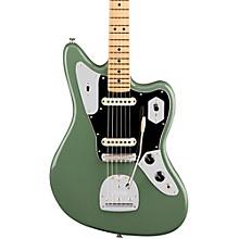 American Professional Jaguar Maple Fingerboard Electric Guitar Antique Olive