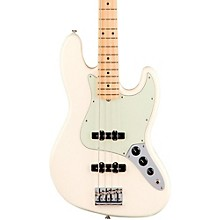 American Professional Jazz Bass Maple Fingerboard Olympic White