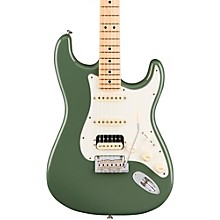 American Professional Stratocaster HSS Shawbucker Maple Fingerboard Electric Guitar Level 2 Antique Olive 190839531049