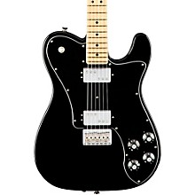 American Professional Telecaster Deluxe Shawbucker Maple Fingerboard Electric Guitar Black