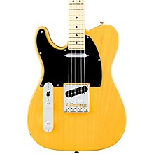 American Professional Telecaster Left-Handed Maple Fingerboard Electric Guitar Butterscotch Blonde