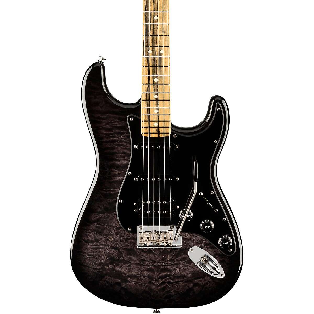 Fender American QMT Stratocaster HSS Pale Moon Ebony Fingerboard Limited Edition Electric Guitar