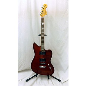 used fender american select carve top jazzmaster hollow body electric guitar transparant red. Black Bedroom Furniture Sets. Home Design Ideas