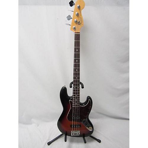 used fender american standard jazz bass electric bass guitar 3 tone sunburst guitar center. Black Bedroom Furniture Sets. Home Design Ideas