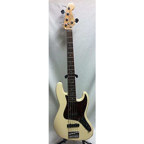used fender american standard jazz bass v 5 string electric bass guitar antique white guitar. Black Bedroom Furniture Sets. Home Design Ideas