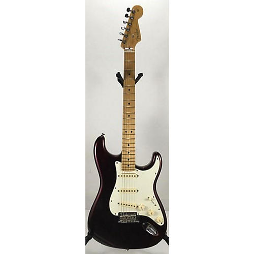 used fender american standard stratocaster solid body electric guitar candy apple red metallic. Black Bedroom Furniture Sets. Home Design Ideas