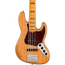 American Ultra Jazz Bass V 5-String Maple Fingerboard Aged Natural