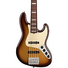American Ultra Jazz Bass V 5-String Rosewood Fingerboard Mocha Burst