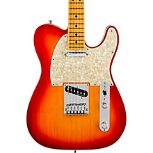 American Ultra Telecaster Maple Fingerboard Electric Guitar Plasma Red Burst