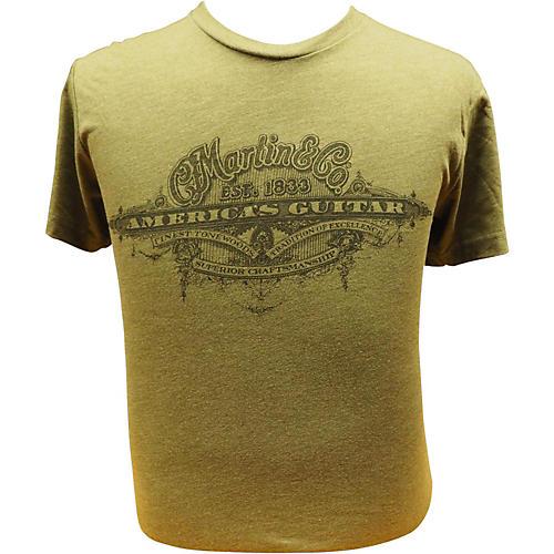 Martin America's Guitar - Black Logo on Military Green T-Shirt