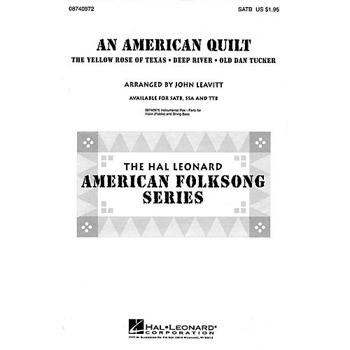 Hal Leonard An American Quilt (A Collection of 3 American Folksongs) TTB Arranged by John Leavitt