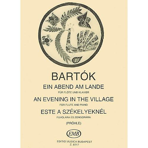 Editio Musica Budapest An Evening in the Village EMB Series by Béla Bartók