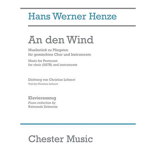 Chester Music An den Wind (Music for Pentecost) Vocal Score Composed by Hans Werner Henze