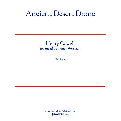 G. Schirmer Ancient Desert Drone Concert Band Level 5 Composed by Henry Cowell