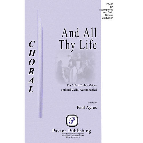Pavane And All Thy Life 2-Part composed by Paul Ayres
